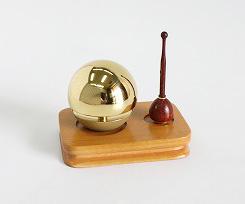 【モダン仏具】【たまゆらリン】クリアー 1.8寸 3点セット(おりん)(おリン)(りん)(リン)