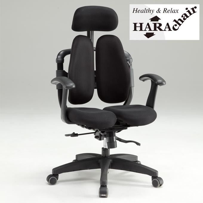 harachair 楽々健康チェア オフィスチェア テレワーク 腰痛 ハラチェア ゲット T型肘 ロッキング 360度回転 座面昇降 健康 パソコンチェア 年中無休 リラックス 超特価 椅子 ヘッドレスト上下調節 おうち時間