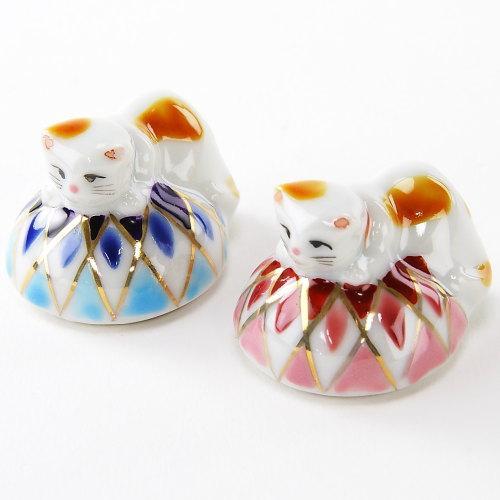 可愛らしい猫ちゃんの箸置きです 清水焼 気質アップ ペア箸置き 当店は最高な サービスを提供します まり猫