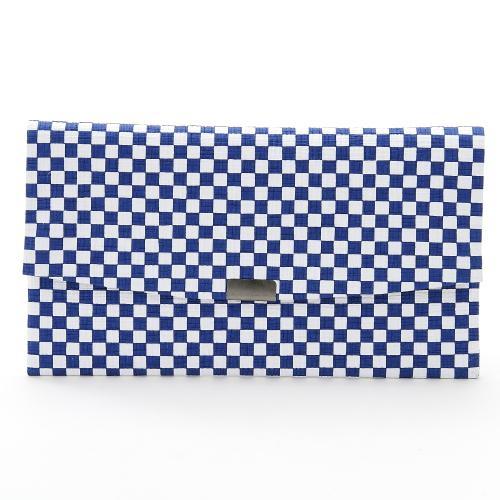 全国一律送料無料 和紙を揉みこんだように柔らかく 表面の凹凸のある肌触りが特徴の縮み素材の友禅紙で出来た財布です 和紙工芸品 驚きの値段 縮み財布 市松模様