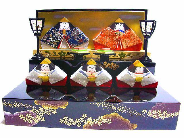 【送料無料】★積み木のお雛さま★【雛人形】【収納飾り】会津塗 雛飾り「日本のまつりごと おひなさま」 本型収納 室内に飾ることのできるコンパクトサイズコンパクトサイズのひな人形 女の子への桃の節句の贈り物におすすめ 日本製