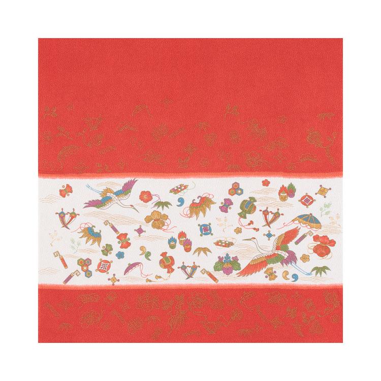 【送料無料+紙箱付】絹のふろしき 吉祥宝づくし75cm 風呂敷専門店・唐草屋
