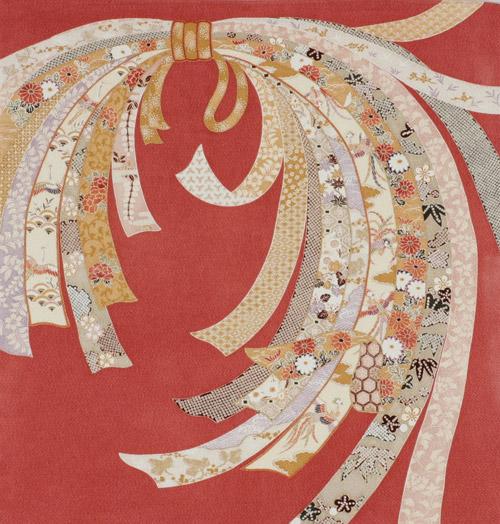 [送料無料+紙箱付] 結婚祝い 出産祝い 内祝い ギフト絹のふろしき のし75cm風呂敷専門店・唐草屋