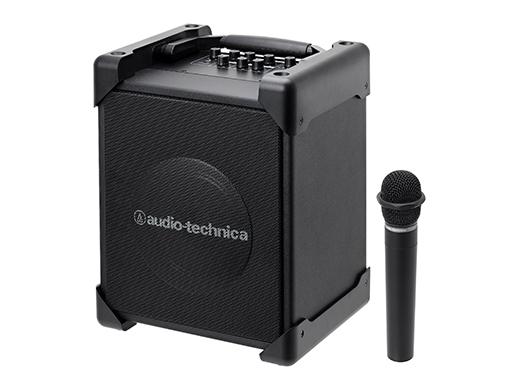電波干渉が少ない1.9GHz帯デジタル方式を採用。ACアダプターでも電池でも使える2WAY電源モデル。 (オーディオテクニカ)ATW-SP1910/MIC デジタルワイヤレスアンプシステム マイク付属 /新品 (お取り寄せ)