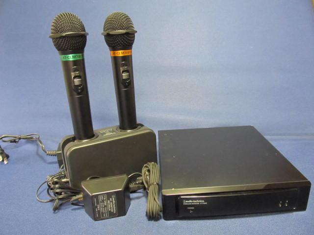 オーディオテクニカ (audio-technica)AT-722RX受光部内臓レシーバー、AT-CLM700T2本、充電台付セット【即納】