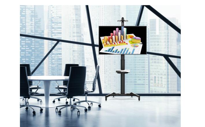 〔新品〕店舗/会議室ディスプレイ向け37型〜100型対応角度調整式液晶テレビスタンド【TTL03-610TW】大型商品