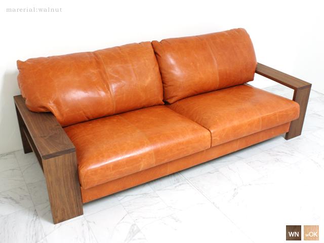 【~8/9 エントリーポイント5倍】ウォールナット 3P・2P・1P[SF-65] 200・175・95センチ幅 3人・2人・1人掛けソファ日本製 天然木 無垢 モダン シンプル 自然 リビング 肘付き アーム ミドルバック 応接イス 椅子W2000・1750・950 × H730 mm・SH 380mm