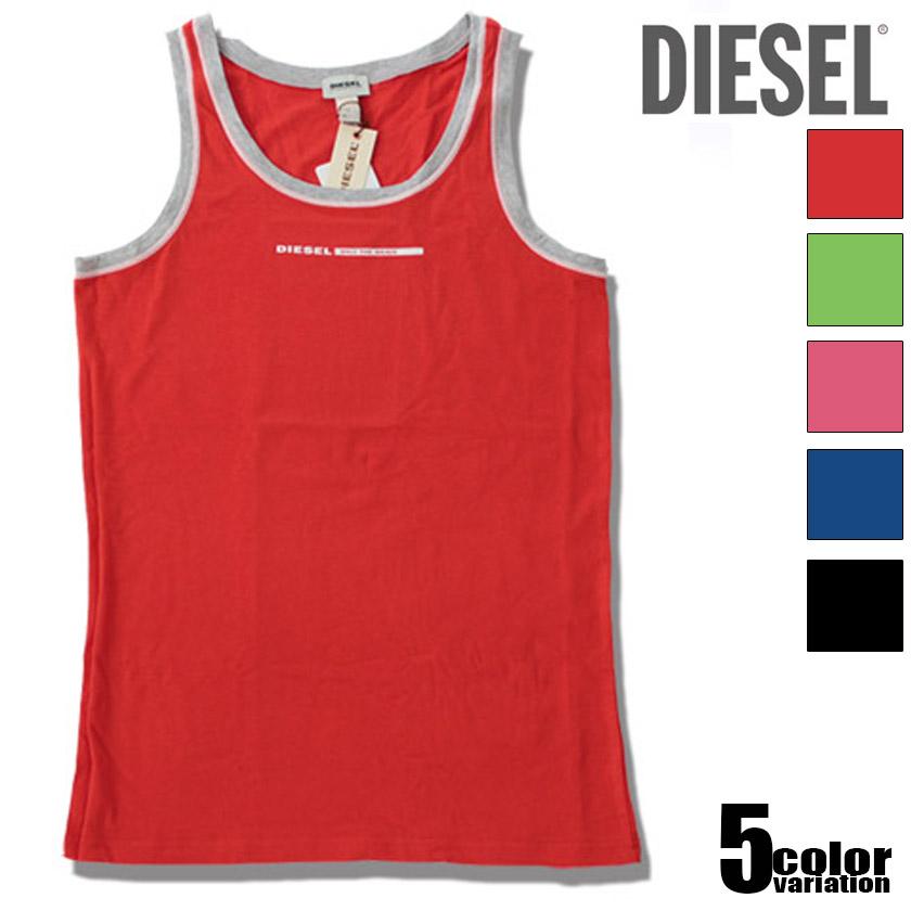 Diesel Fresh and Bright Cotton Modal Tank 00SBEC0TAIM L//Red