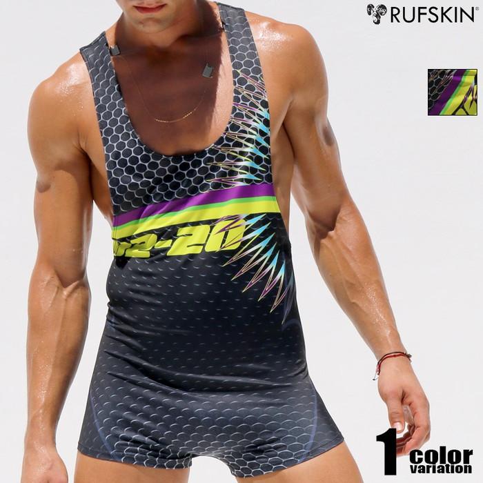 RUFSKIN(ラフスキン) SEISMIC 上下一体型スポーツウェア レスリングウェア型インナー 男性下着 メンズ パンツ ショルダーボクサーパンツ 上下一体型