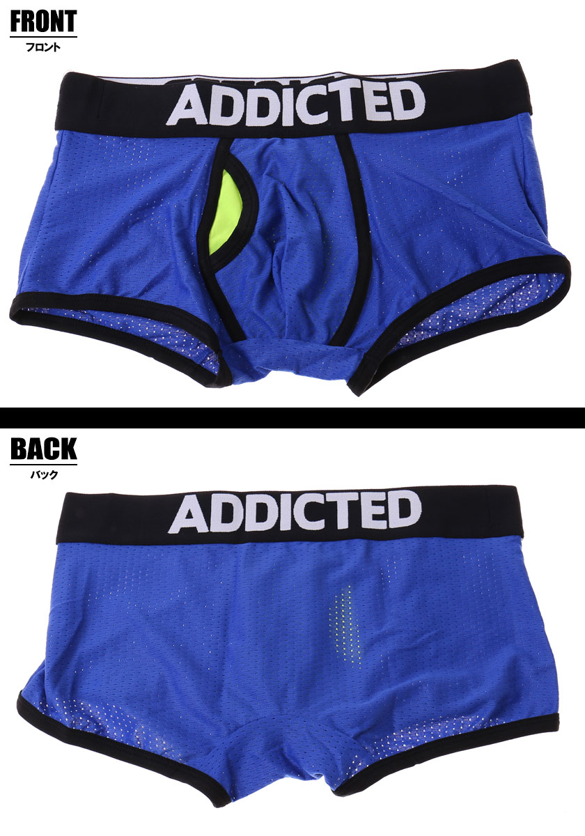ADDICTED (jeweled) CONTRASTED MESH BOXER diffrence specifications quick-drying mesh mens Boxer shorts men underwear low-rise pants dot mesh sporty