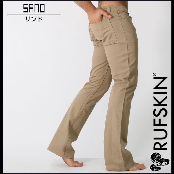 RufSkin (ravskin) 驹棉花奇诺卡拉裤子长裤子男装时尚美丽剪影
