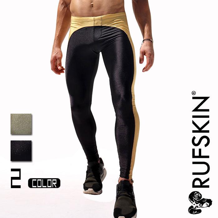 RUFSKIN(ラフスキン) DAGGER 光沢 スポーツスパッツ スポーツレギンス ロングパンツ メンズ ボトムス ファッション スポーツウェア ジムウェア