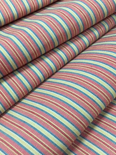 江戸時代に流行した縞柄 スッキリした印象で 豊富な色の縞柄が魅力 113-館山唐桟 新色 斎藤光司氏製作 植物で染めて織り上げる粋な縞の綿織物 反物 絹に似たしなやかな風合いの木綿縞 授与