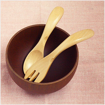 Baby spoon and baby fork 11 cm [set of 2] wooden cutlery (baby / child kids for) (limited) / sale / %OFF// wooden kitchen /fs3gm