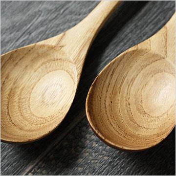 栗の木 スープスプーン 全2種 15,5cm 18cm メール便不可商品 おしゃれ