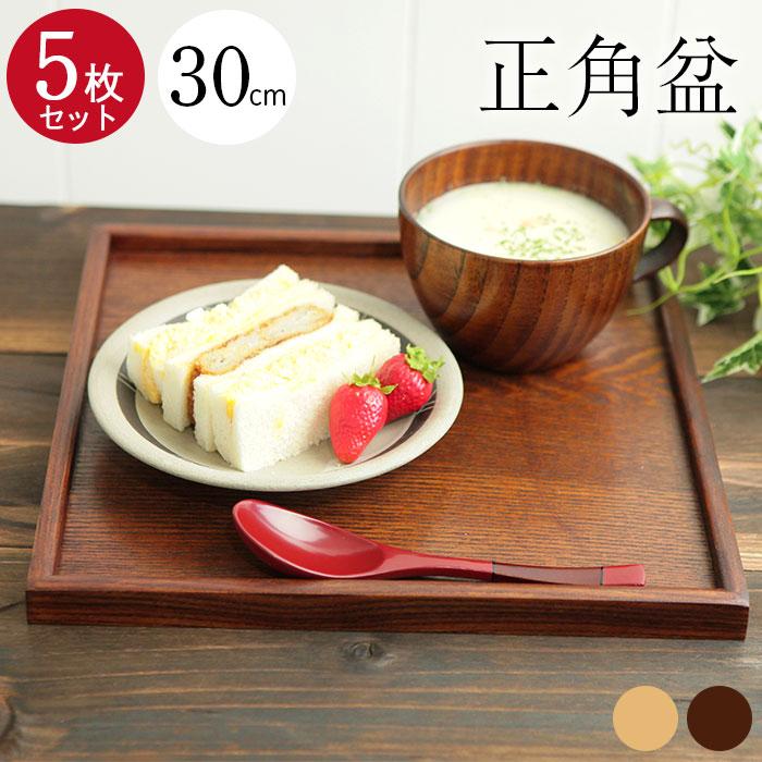 Bon wooden trays: square basin] 30 x 30 cm cherry blossom life