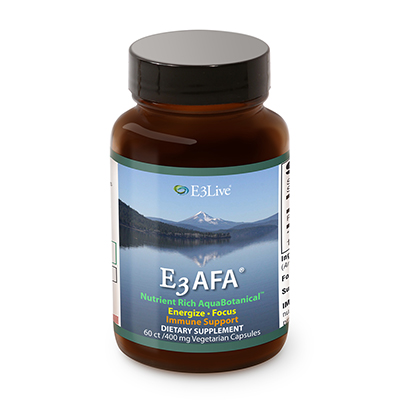スーパーフード E3Live original capsule AFA Blue Green Algae  E3Live【AFA カプセル60粒】イースリーライブ AFAブルーグリーンアルジー