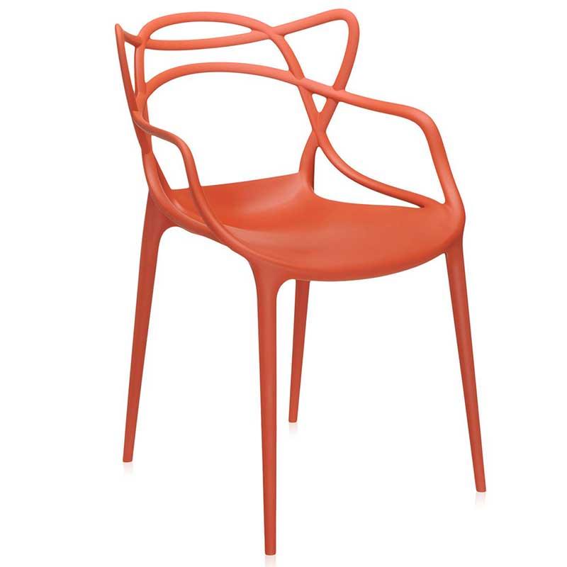 【Kartell カルテル 日本正規】 チェア 椅子 ダイニングチェア マスターズ モダン インテリア 5865 オレンジ MASTERS イタリア デザイナーズ 家具 フィリップ・スタルク 軽量 一体成型 樹脂