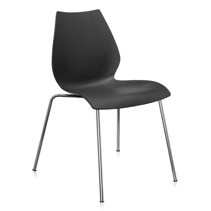 【Kartell カルテル 日本正規】 チェア 椅子 ダイニングチェア マウイ シンプル インテリア 2870 アンスラサイト MAUI イタリア デザイナーズ 家具 スタッキング