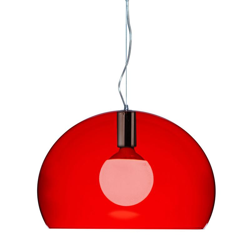 【Kartell カルテル 日本正規】 ペンダントランプ スモールフライ シンプル インテリア 9055 レッド SMALL FL/Y イタリア デザイナーズ 照明 フェルーチョ・ラヴィアーニ アクリル樹脂