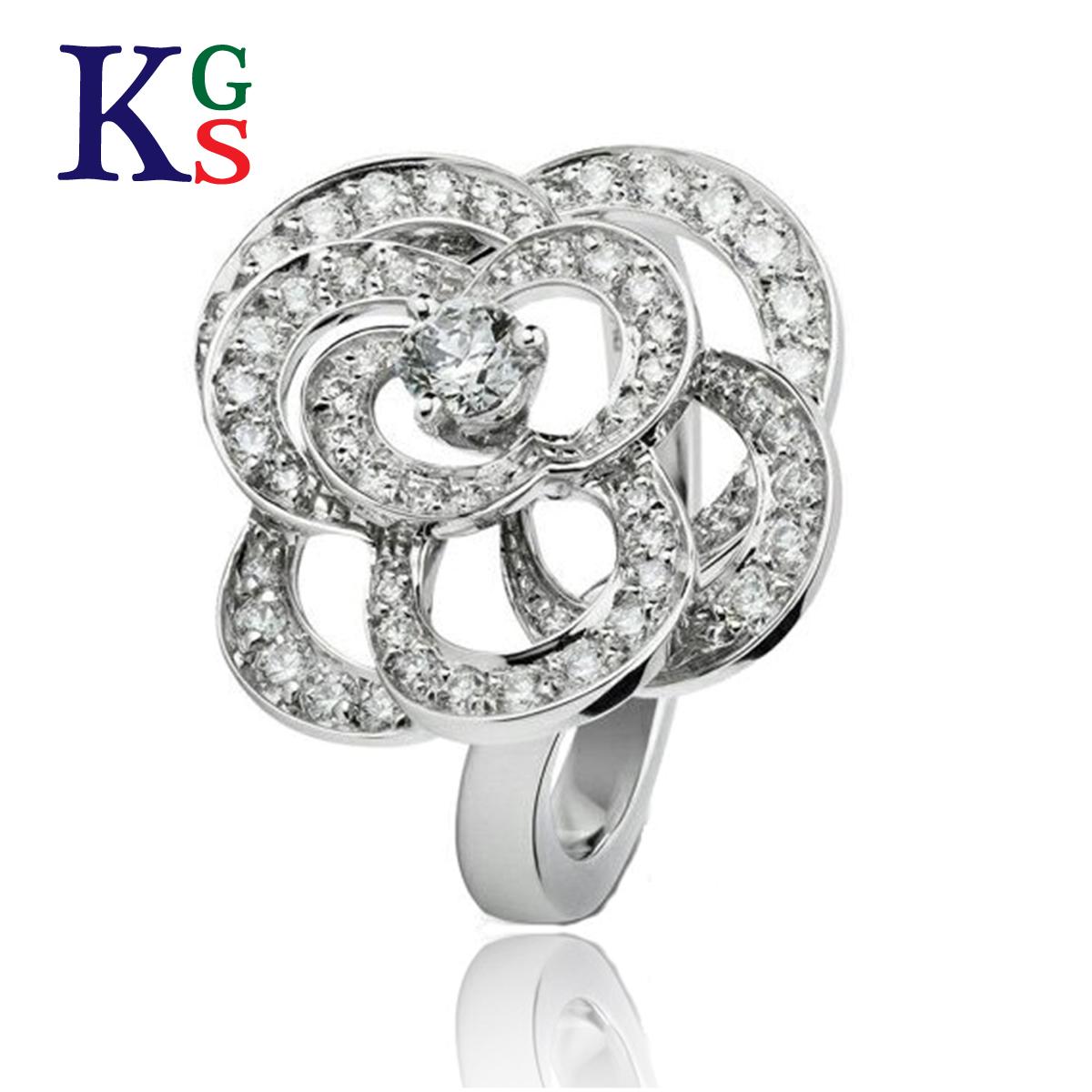 【ギフト品質】【名入れ】シャネル/CHANEL / ジュエリー リング 指輪 レディース / カメリア コレクション ホワイトゴールド ダイヤモンド ロレンツ バウマー K18WG / 花 フラワー J2579