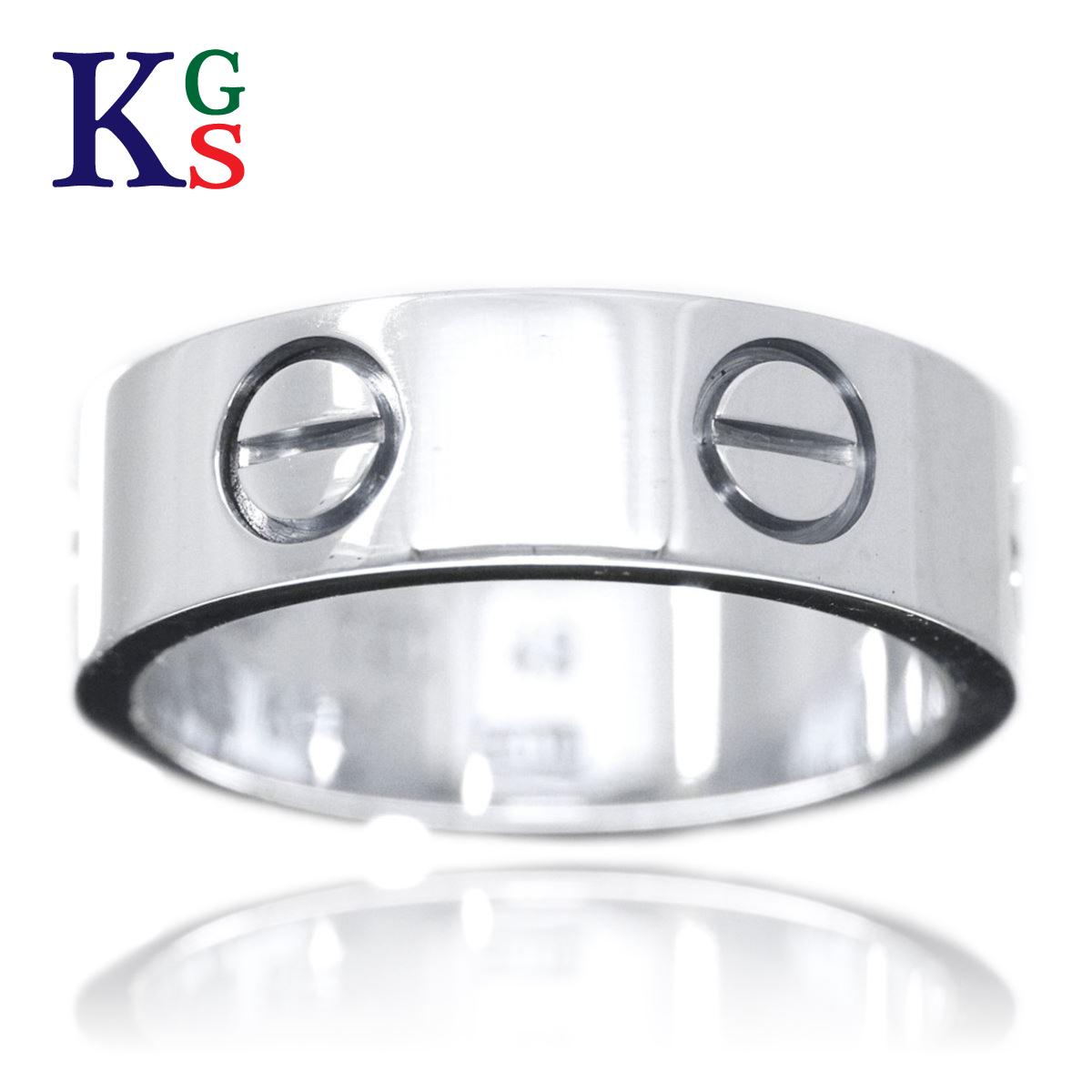【ギフト品質】【名入れ】【15号~25号】カルティエ/Cartier / リング 指輪 メンズ / ラブリング ホワイトゴールド K18 750 WG B4084700
