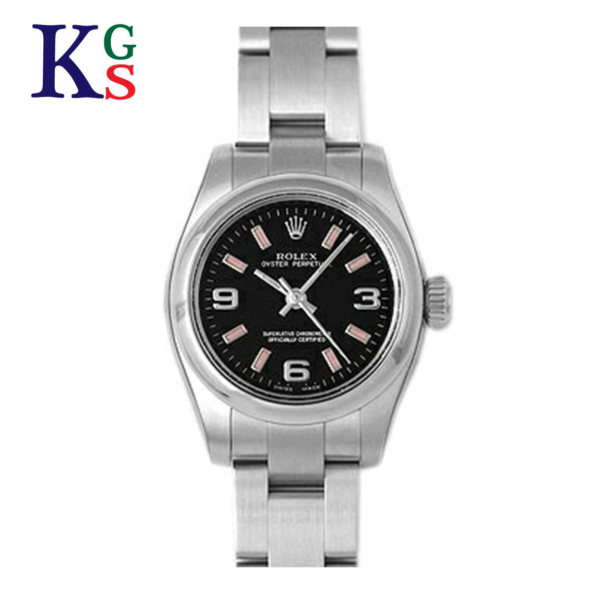 【ギフト品質】ロレックス ROLEX オイスターパーペチュアル ブラック文字盤 レディース 腕時計 ルーレット刻印 176200
