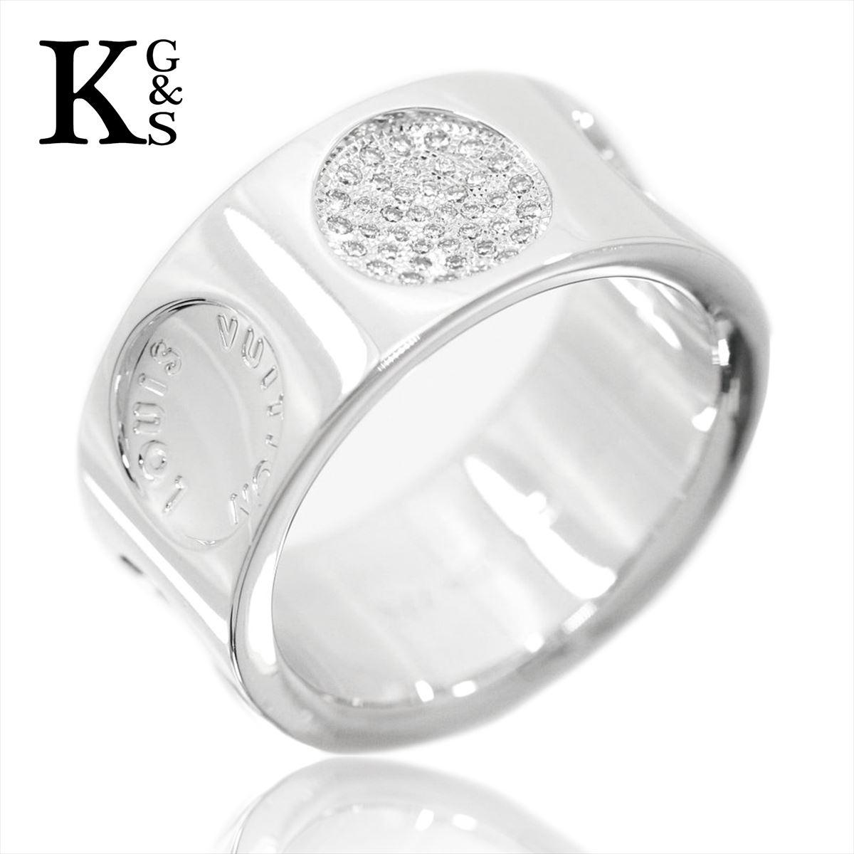 【ギフト品質】【名入れ】ルイヴィトン/Louis Vuitton グランド・バーグ アンプラント リング / 指輪 ホワイトゴールド×ダイヤモンド Q9138A