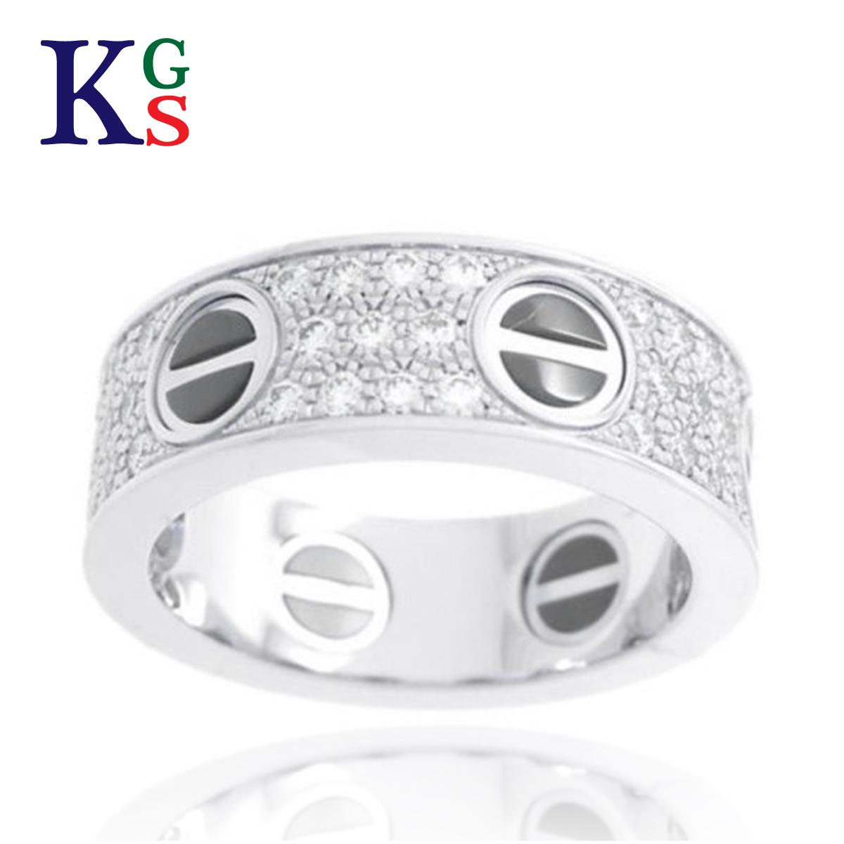 【ギフト品質】【名入れ】カルティエ/Cartier / ジュエリー リング 指輪 レディース / ラブリング パヴェダイヤ ホワイトゴールド セラミック K18 750 WG B4207600 / ダイヤモンド 【08】【05】 1227