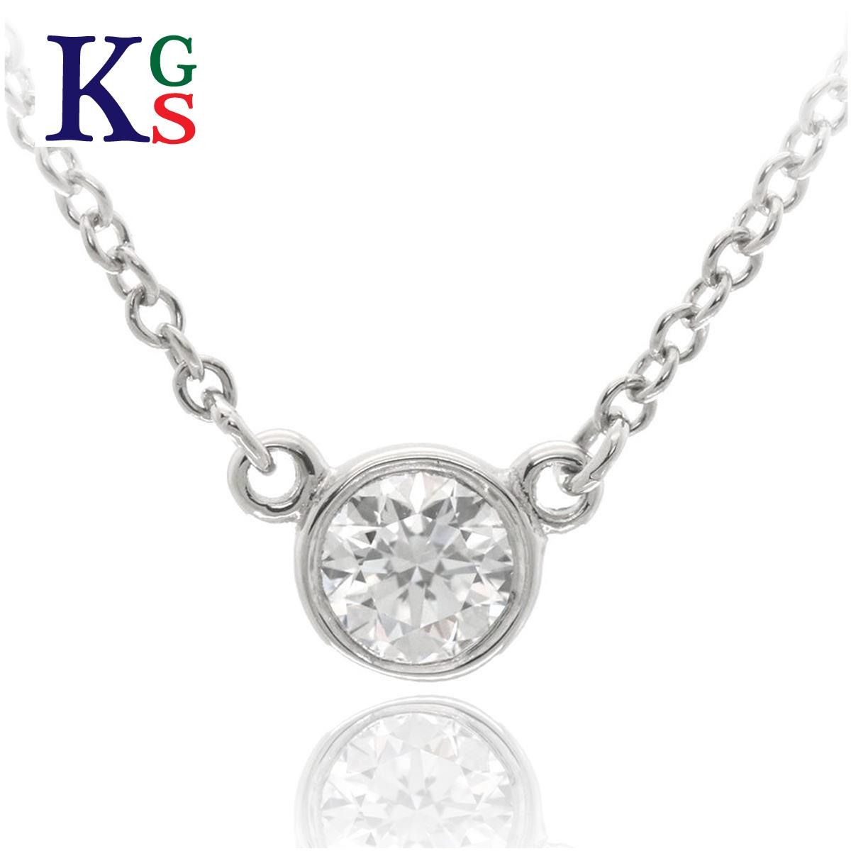 【ギフト品質】ティファニー/Tiffany & Co. ジュエリー ネックレス レディース / バイザヤード Pt950 プラチナ 1Pダイヤモンド