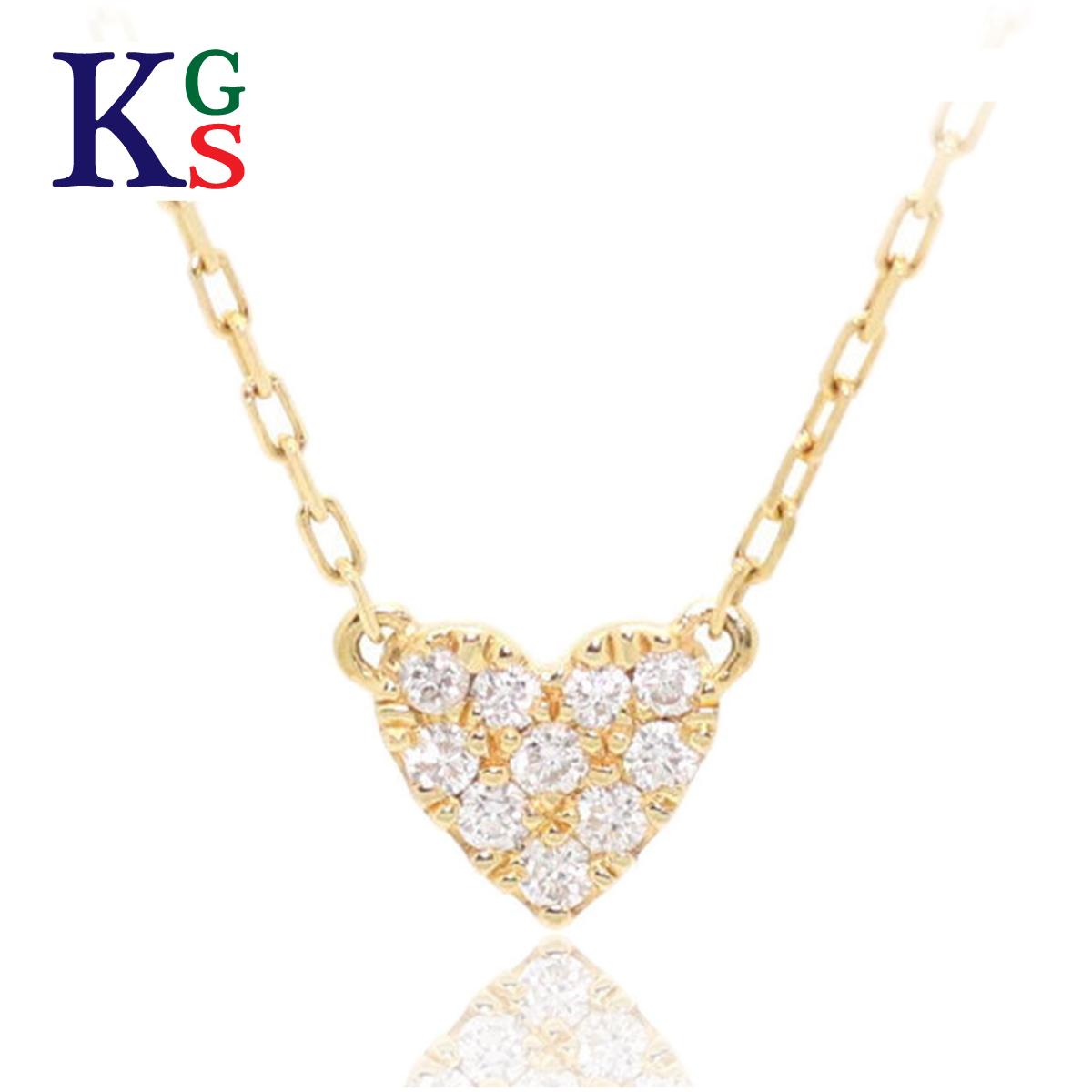 【ギフト品質】AHKAH/アーカー ジュエリー レディース ネックレス ハートパヴェ K18YG イエローゴールド 10Pダイヤモンド 0.05ct