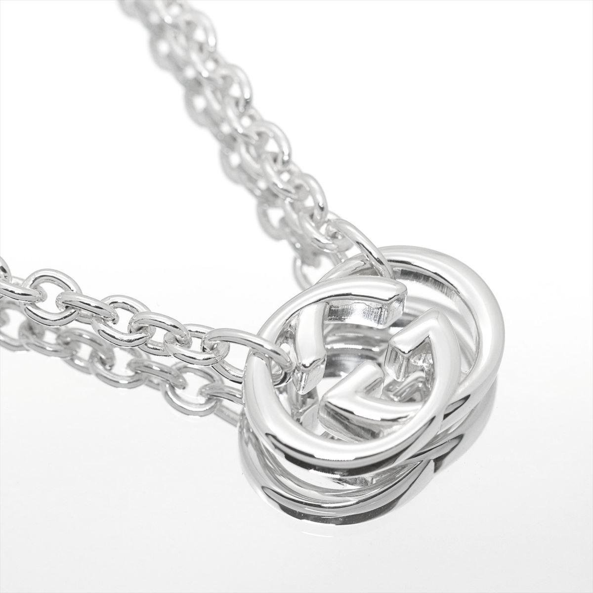 5b1dbd1b428e Gucci  GUCCI pair necklace GG necklace silver Bullitt pendant Lady s men  sterling silver SV925 190489 JJ8400 8106  45cm