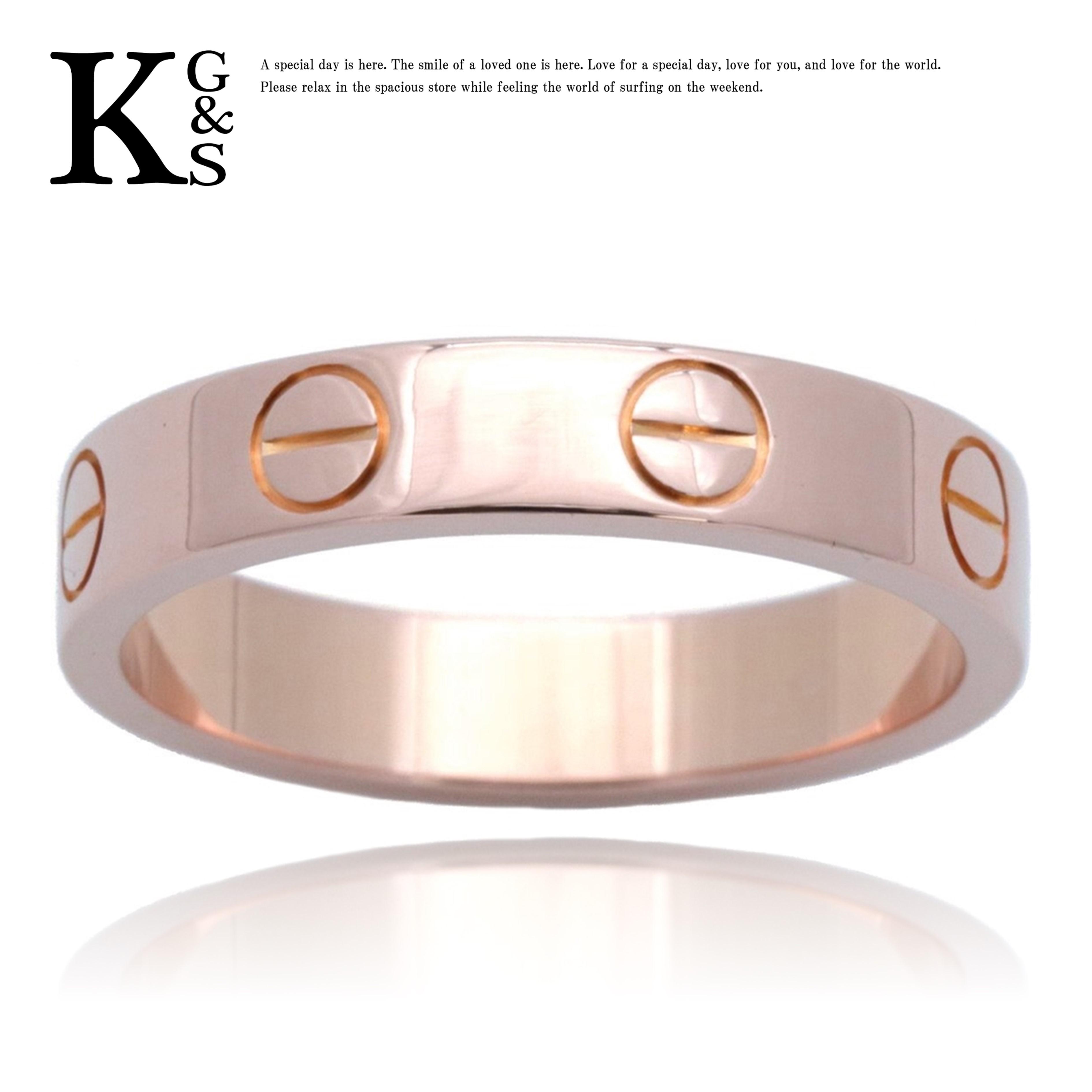 【ギフトランク】【4号-23号】カルティエ/Cartier / ミニラブリング / レディース メンズ アクセサリー 指輪 / K18PG ピンクゴールド / B4085200
