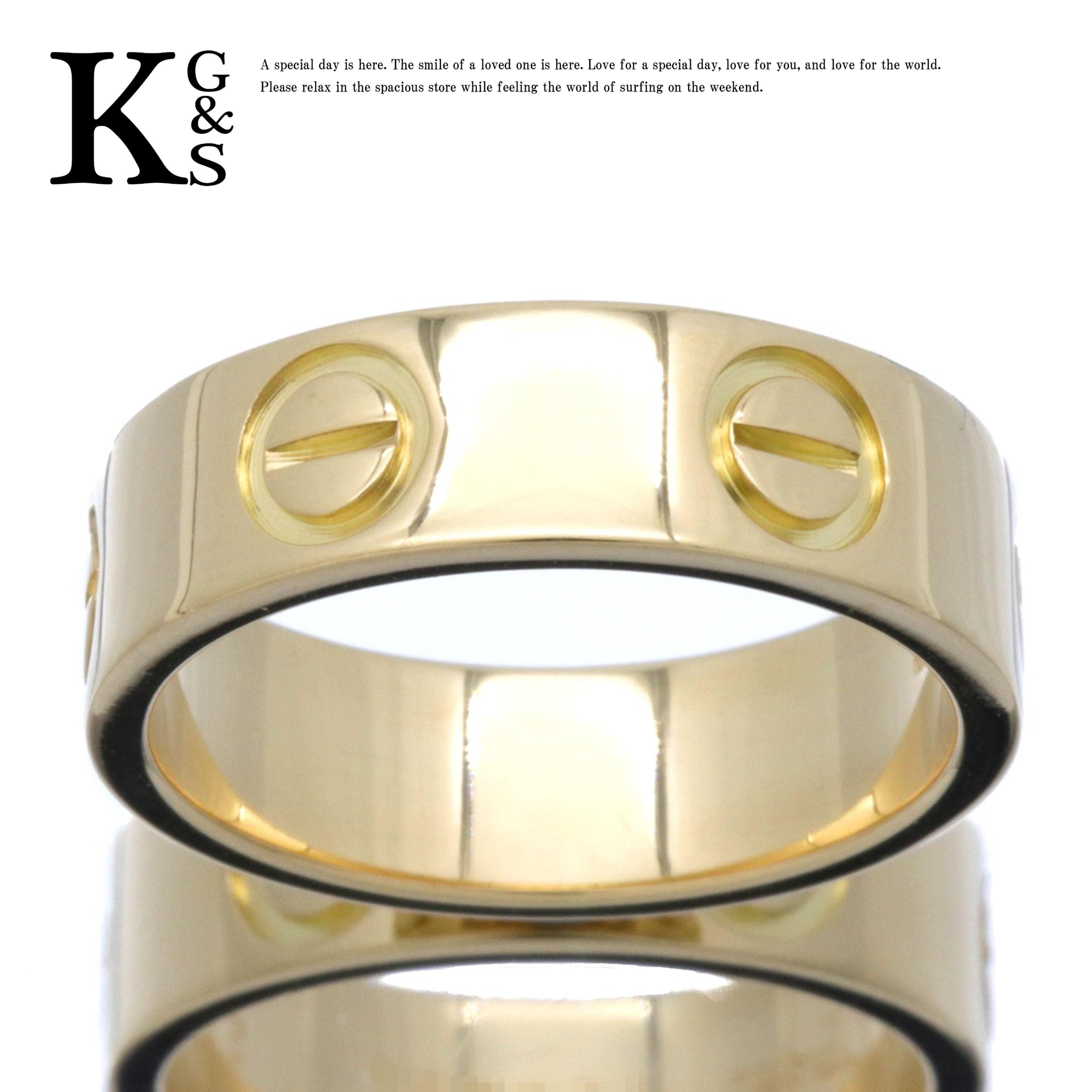 【ギフト品質】【名入れ】カルティエ/Cartier / アクセサリー リング 指輪 メンズ / ラブリング LOVE K18 750 YG / イエローゴールド B4084600