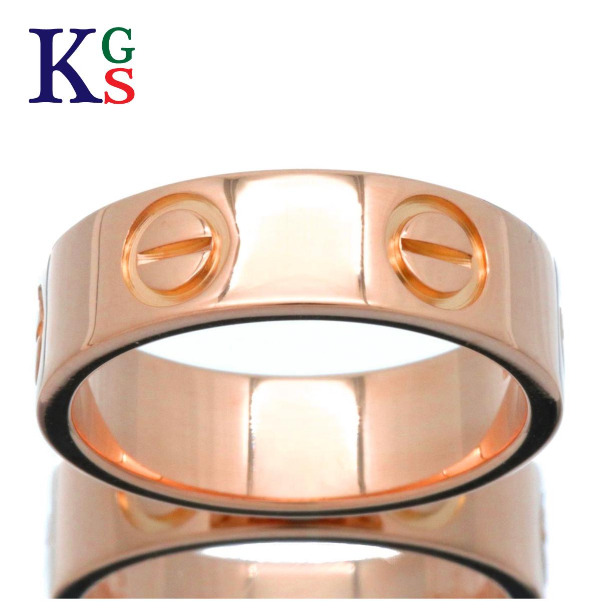 【ギフト品質】【名入れ】【4号~14号】カルティエ/Cartier / 指輪 レディース / ラブリング LOVE ピンクゴールド K18PG 750 / B4084800