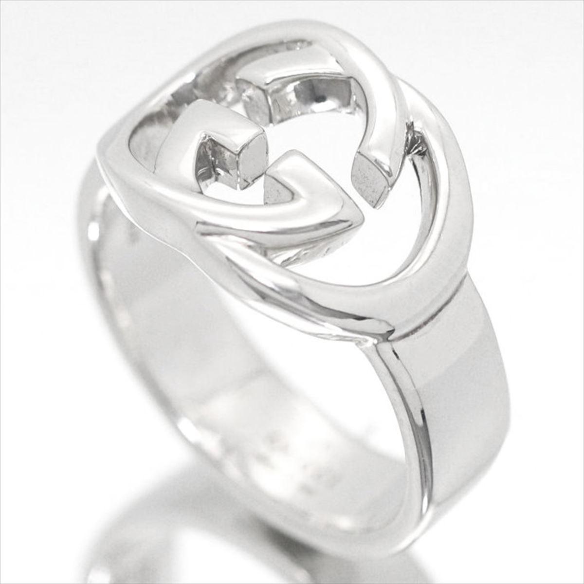 8abc5221b5f1 ... 指輪メンズ 【ブランド】グッチ【GUCCI】ジュエリーリングシルバーブリットSV925GGロゴリング/ロゴ ...