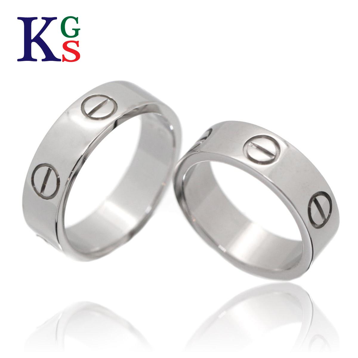 【ギフト品質】【名入れ】【セット販売】【4号~24号】/Cartier / カルティエ ペアリング / ラブリング LOVEring ホワイトゴールド K18 750 WG 2点 B4084752 / メンズ レディース マリッジリング 結婚指輪
