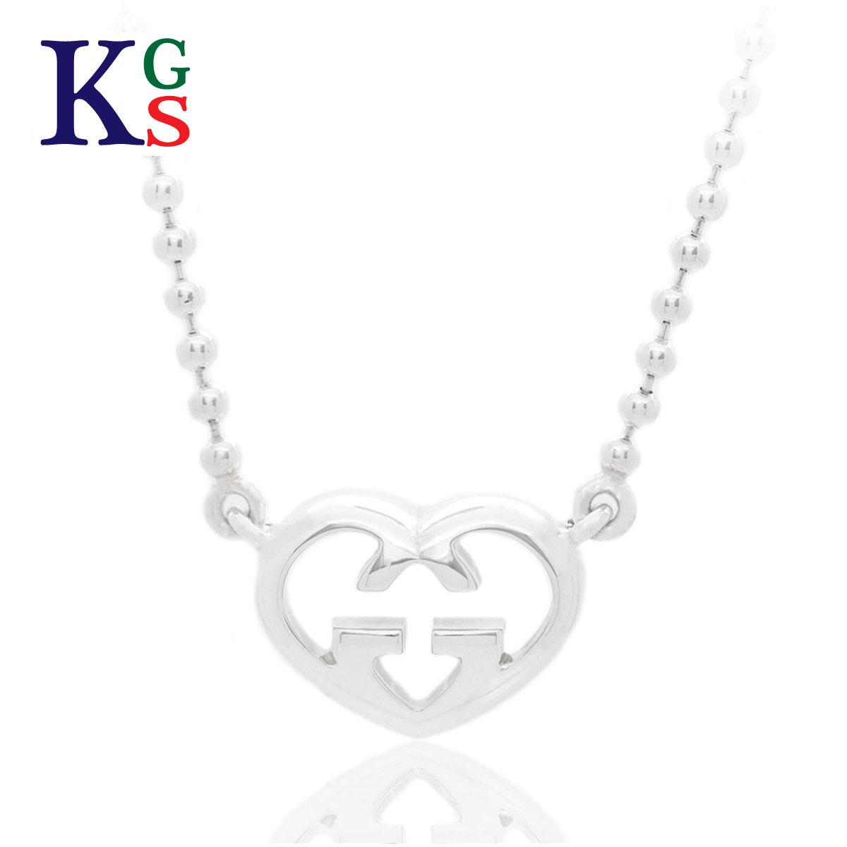 7d2dc34e8 karyon: Gucci /GUCCI / interlocking grip G heart motif necklace &  pierced earrings / Lady's accessories / sterling silver / 40cm / 246573  J8400 8106 ...