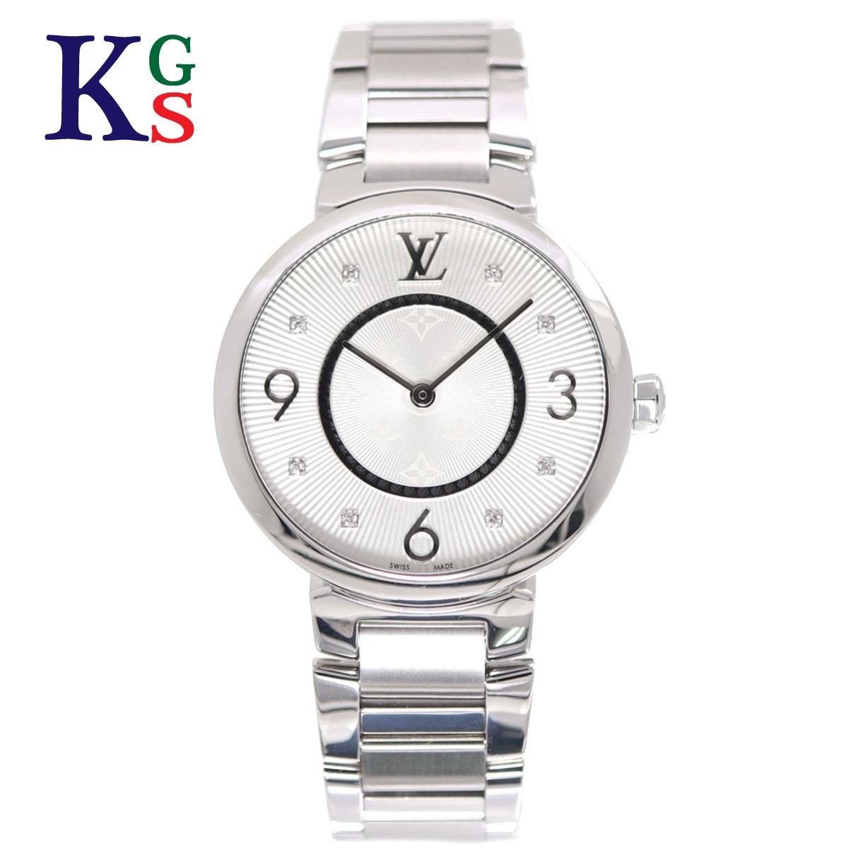【ギフト品質】ルイヴィトン/Louis Vuitton / 腕時計 レディースウォッチ / タンブール スリム SS×8Pダイヤ ステンレスブレス クオーツ 電池式 Q13MJ