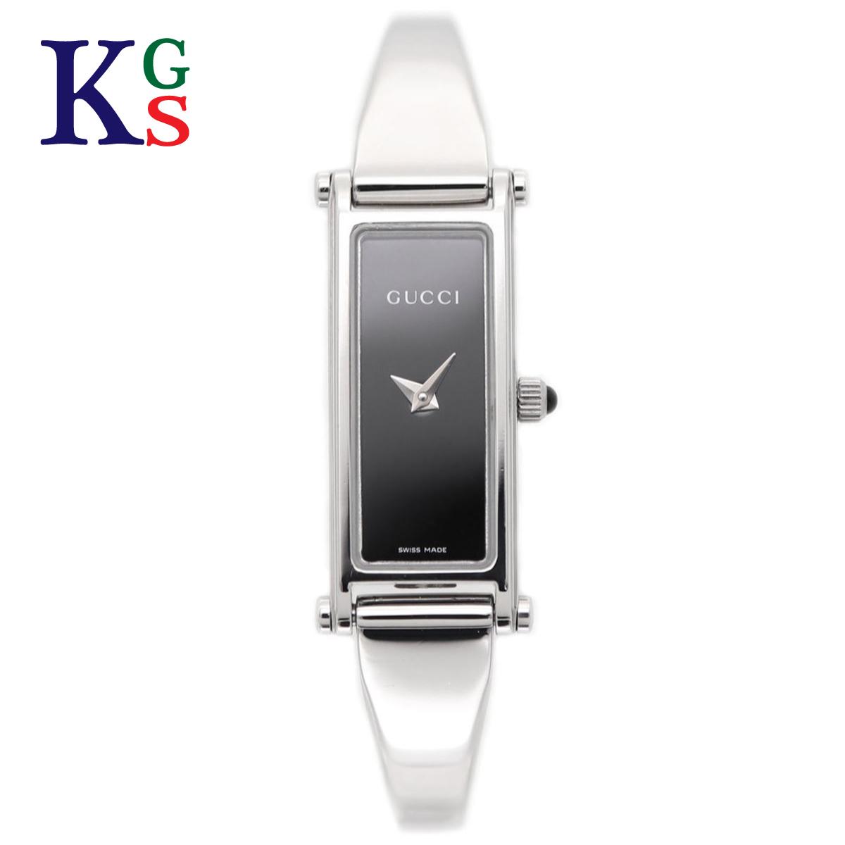 【ギフト品質】グッチ/GUCCI / 腕時計 レディース シルバー ステンレススチール / バングルウォッチ SS 黒文字盤 1500L クオーツ / ミニフェイス 電池式