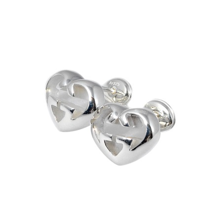 6d1350ad550 Gucci jewelry pierced earrings Lady s   interlocking grip G heart Lady s  silver 925   GG logo present gift memorial day surprise 246573 J8400 8106