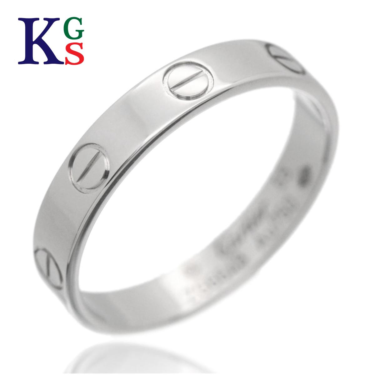 【ギフト品質】【名入れ】【4号-23号】カルティエ/Cartier / ミニラブリング / レディース メンズ ジュエリー 指輪 / K18WG ホワイトゴールド / B4085100