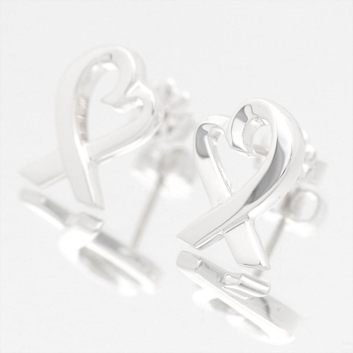 8316e832f69 Tiffany  Tiffany co Lady s jewelry Paloma atomic bomb SORA Bing heart pierced  earrings silver Ag925