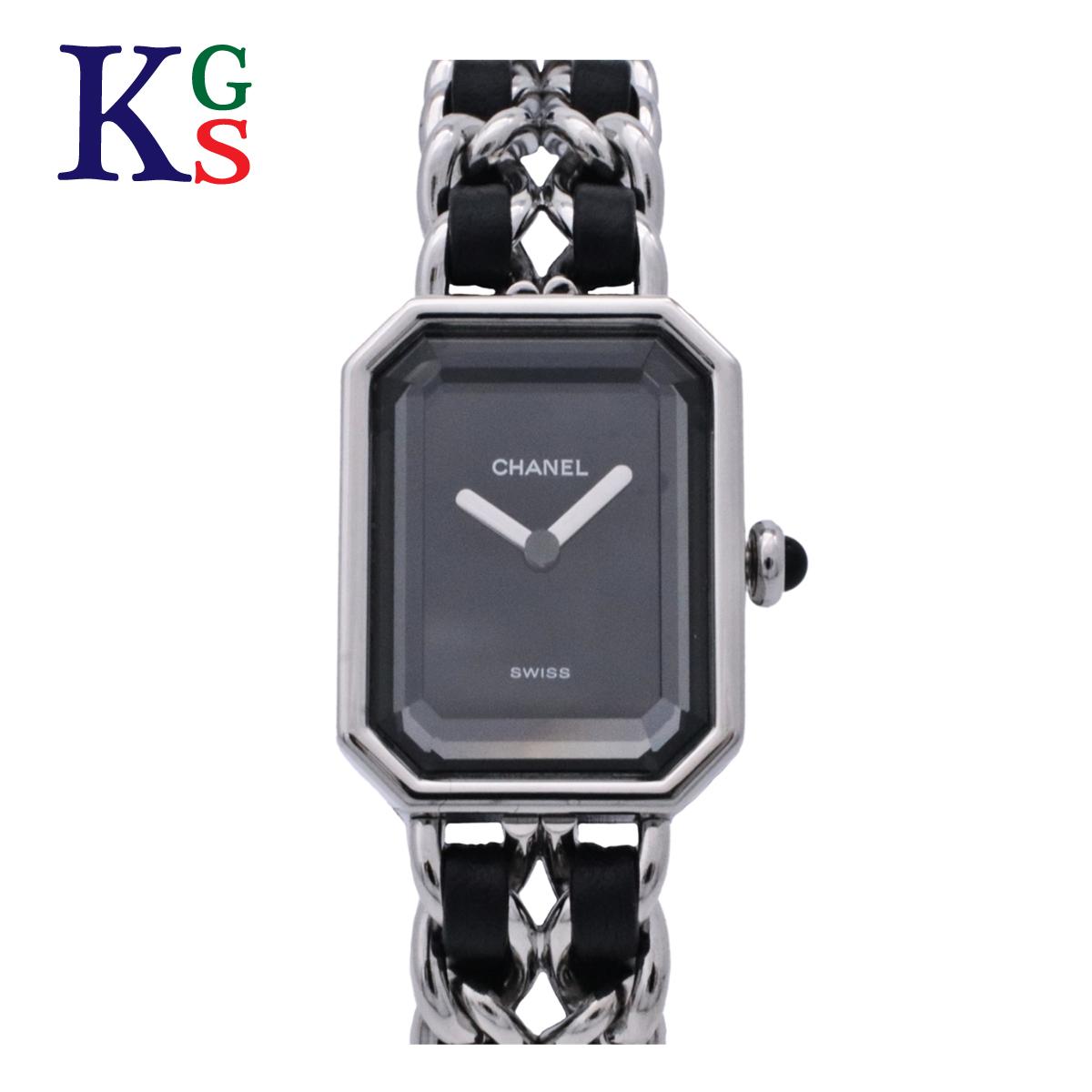 【ギフト品質】シャネル/CHANEL プルミエールM シルバー H0451 レディース 腕時計 ブラック クォーツ レザー×SS