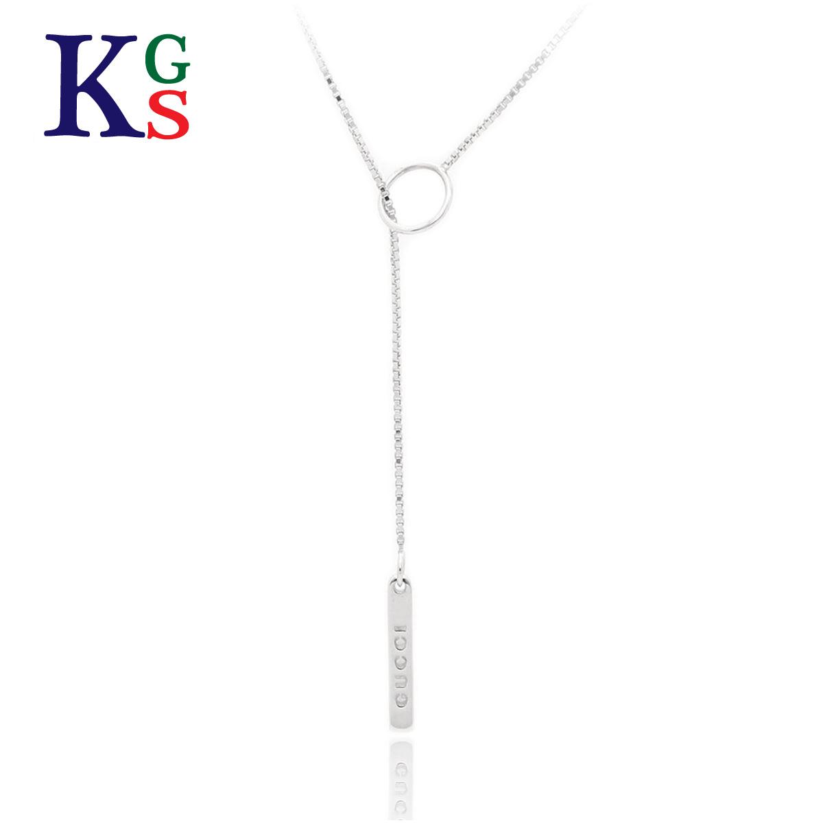 【ギフト品質】グッチ/GUCCI レディース ジュエリー ラリアット Y字型ネックレス K18WG ホワイトゴールド