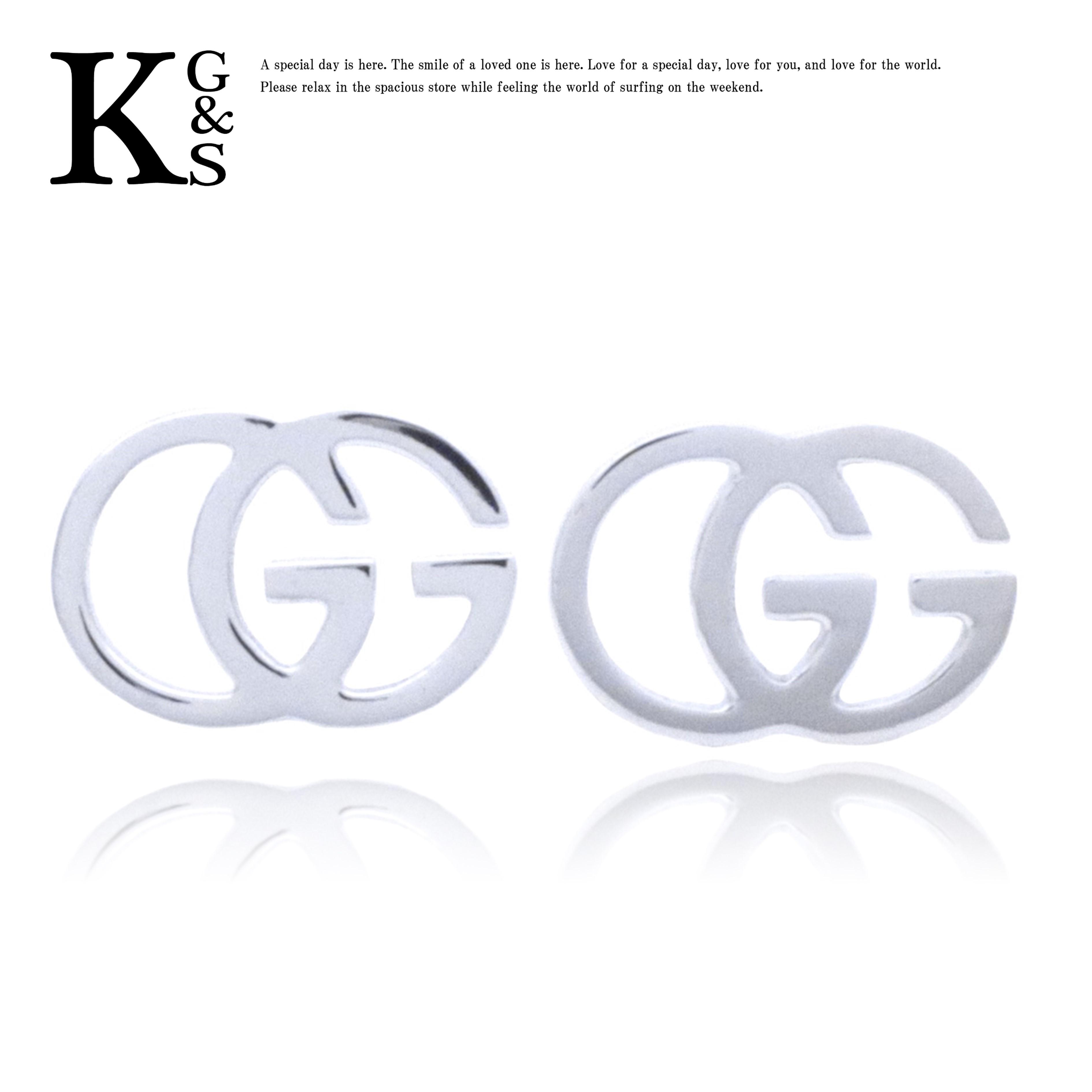 【ギフト品質】グッチ/GUCCI GGロゴ スタッズピアス K18WG ホワイトゴールド 094074 09850 9000 レディース ジュエリー