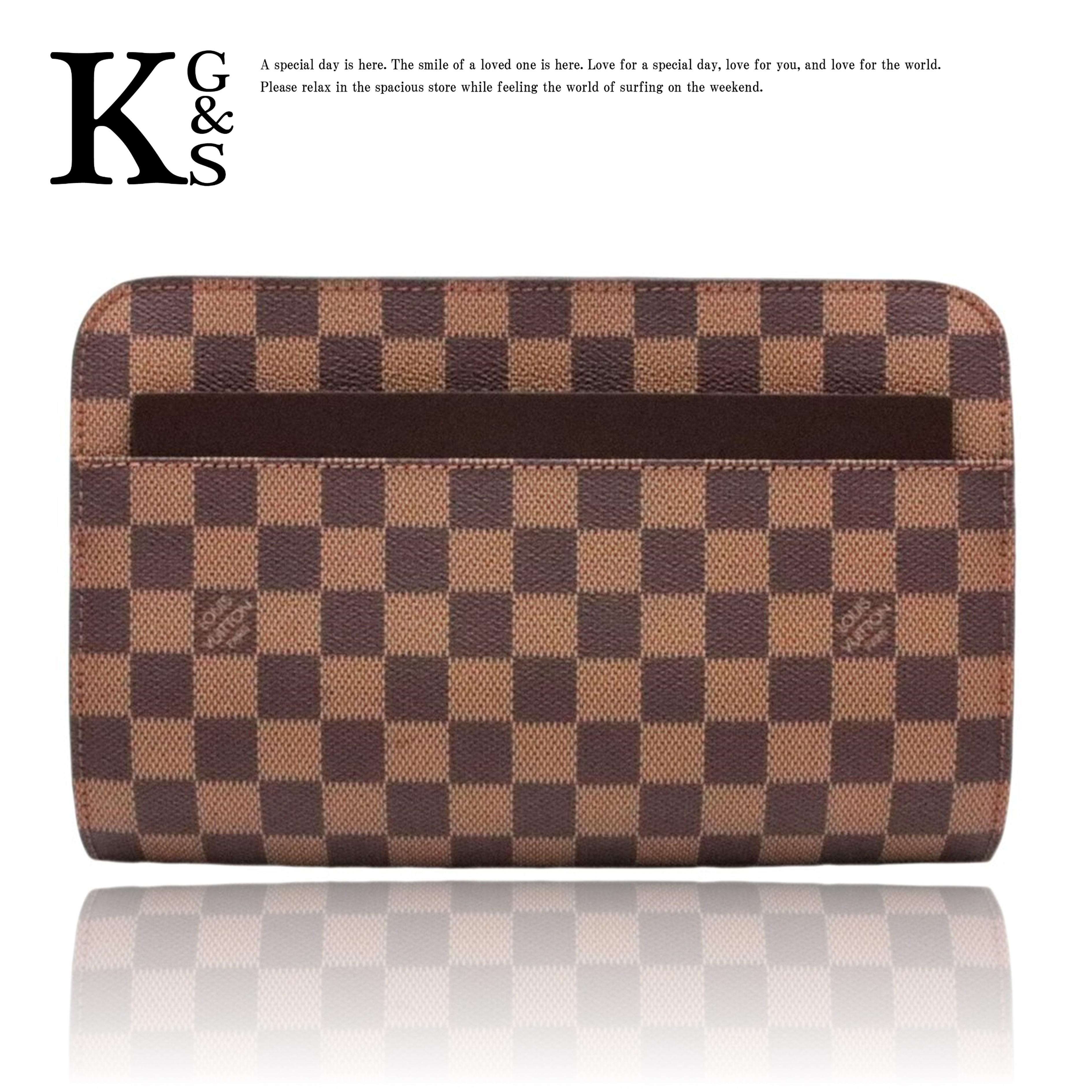 【新古品】ルイヴィトン/Louis Vuitton ダミエ サンルイ N51993 FL0032 メンズ セカンドバッグ ブラウン ダミエキャンバス