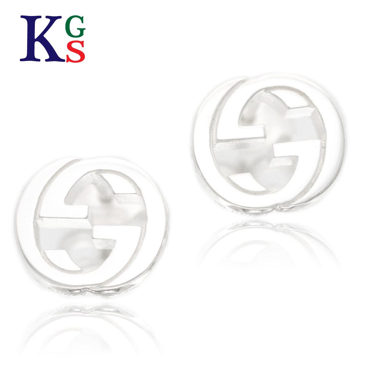 601b53feb8a karyon  Gucci  GUCCI Lady s jewelry GG logo stud bolt pierced earrings  silver Ag925 356289-J8400-0702