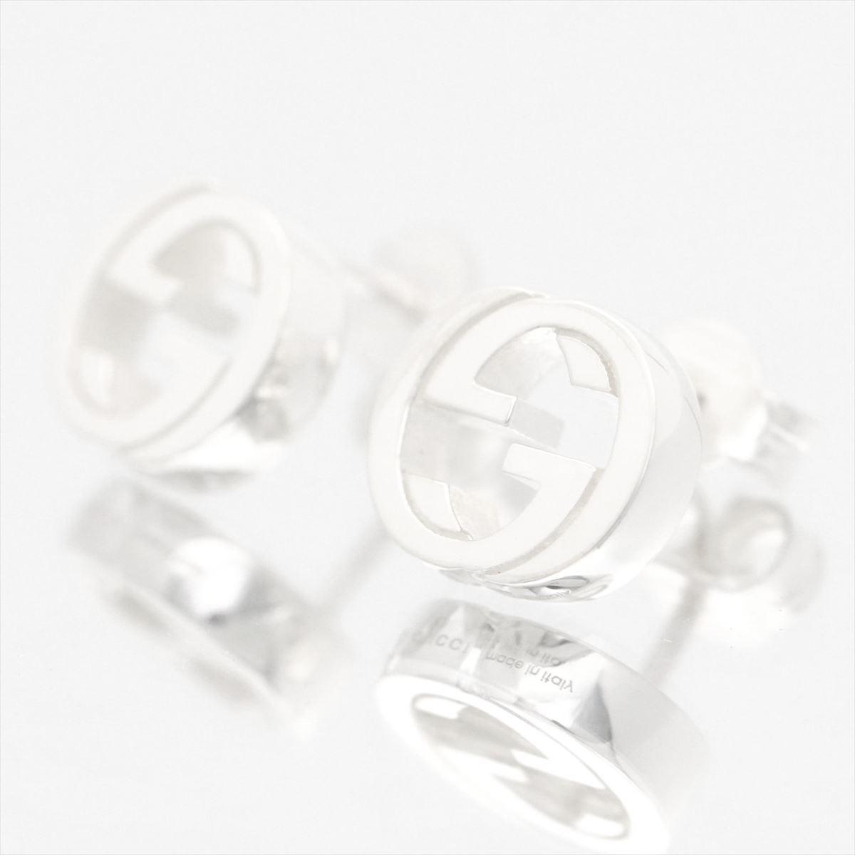 a444d2a3999 Gucci  GUCCI Lady s jewelry GG logo stud bolt pierced earrings silver Ag925  356289-J8400-0702