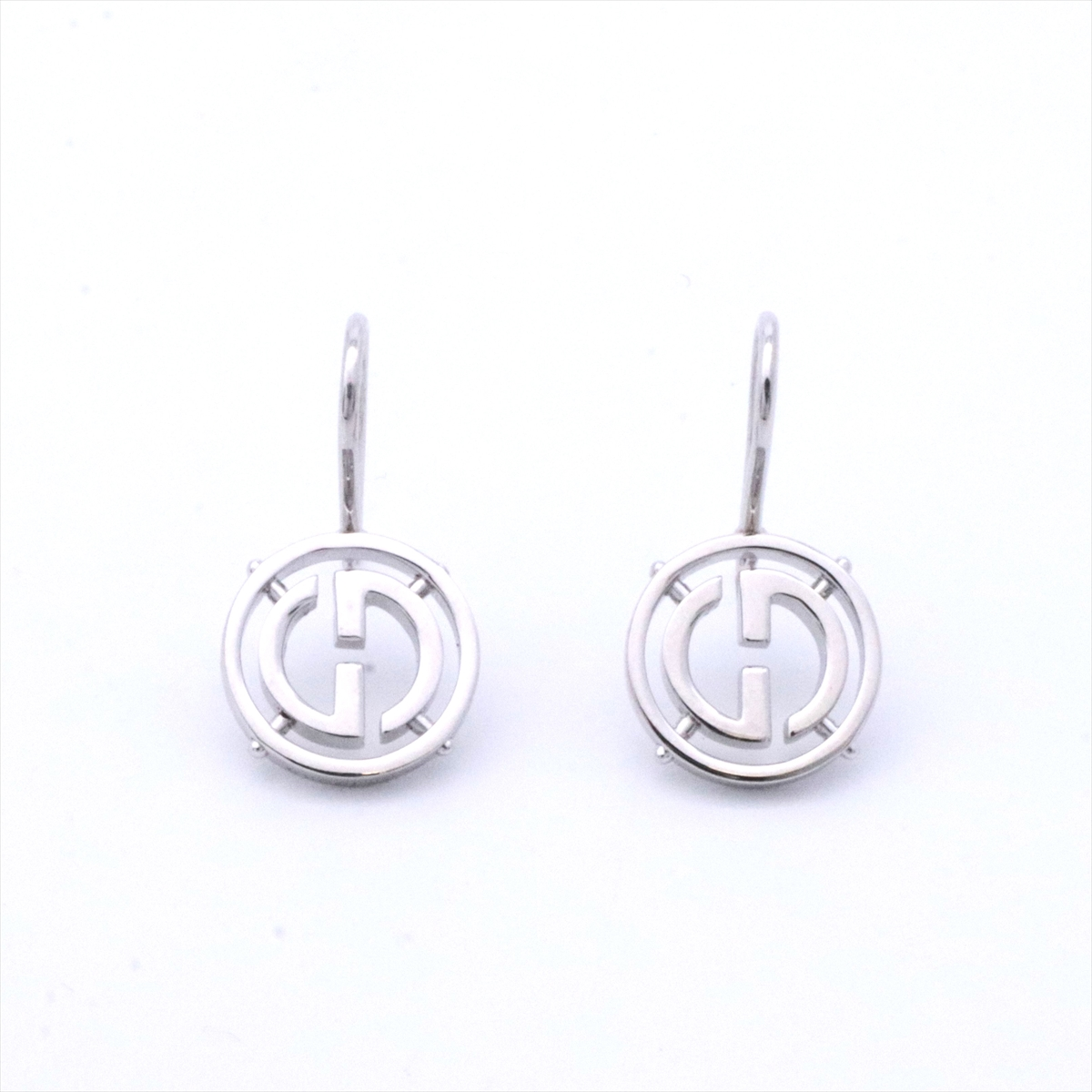 5bbd9786c54 Gucci  GUCCI Lady s jewelry G logo drop pierced earrings white gold K18WG